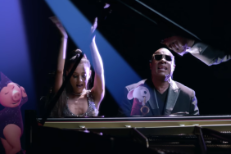 Ariana Grande and Stevie Wonder