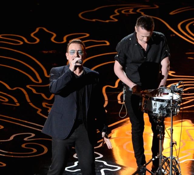 Bono and Larry Mullen Jr.