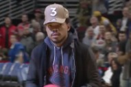 Watch Chance The Rapper Play Dodgeball With The Chicago Cubs' Mascot