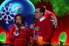 Norah Jones and Stephen Colbert