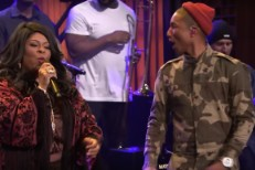 Pharrell and Kim Burrell on The Tonight Show