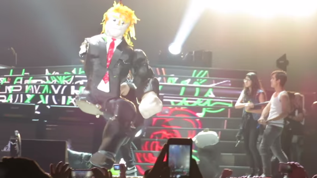 Guns N' Roses Bring Mexican Fans Onstage To Smack A Donald Trump Piñata