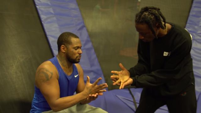 Watch ScHoolboy Q & Joey Bada$$ Face Off In Trampoline Dodgeball