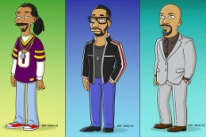 Snoop Dogg, RZA, and Common as The Simpsons' characters
