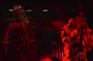 Watch Travis Scott Perform With A Giant Animatronic Eagle On <em>Colbert</em>
