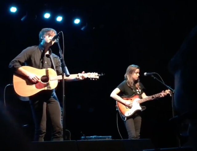 Ben Gibbard and Julien Baker