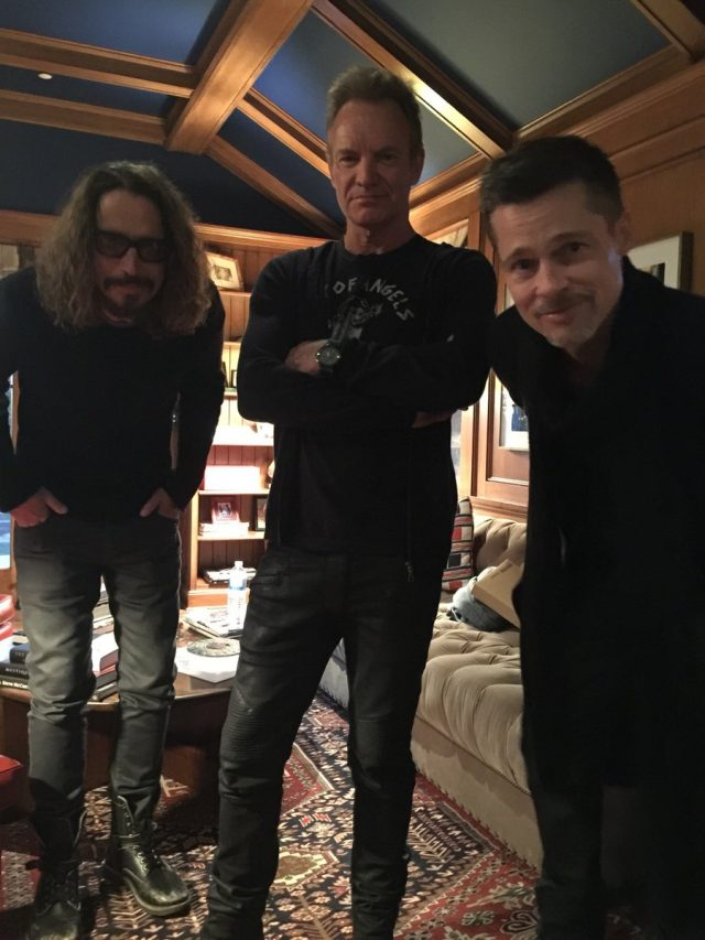 Chris Cornell, Sting, & Brad Pitt