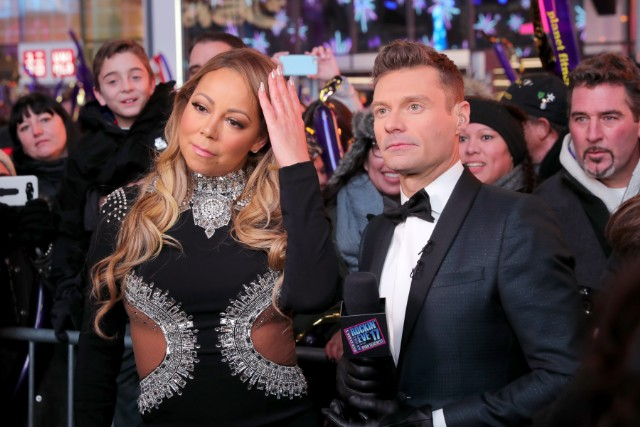 Mariah Carey and Ryan Seacrest