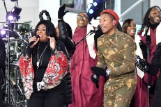 Pharrell and Kim Burrell
