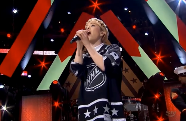 Watch Carly Rae Jepsen Sing The Canadian National Anthem At NHL All-Star GameWatch Carly Rae Jepsen Sing The Canadian National Anthem At NHL All-Star Game