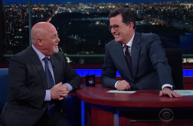 Stephen Colbert and Billy Joel