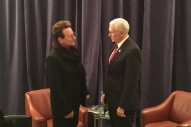 Bono Meets With Vice President Mike Pence In Munich