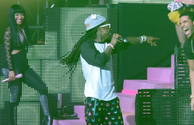 Drake and Lil Wayne and Nicki Minaj