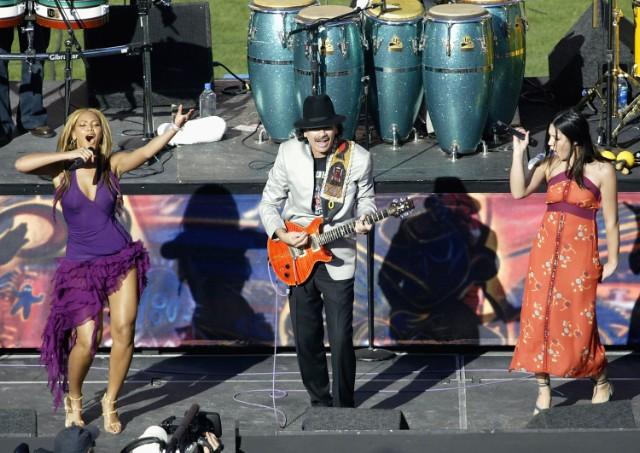 Beyoncé and Carlos Santana