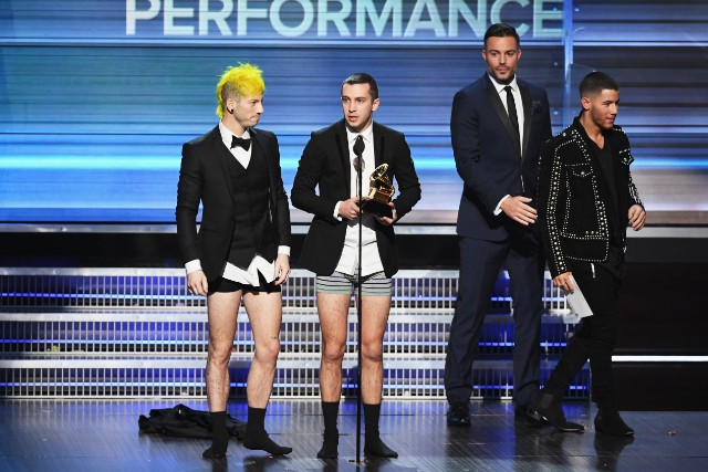 Twenty One Pilots At The 59th GRAMMY Awards