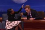 Watch Janelle Monáe Talk Pompadours, The Super Bowl, Going Into Space On <em>Conan</em>