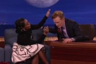 Watch Janelle Monáe Talk Pompadours, The Super Bowl, Going Into Space On <em>Conan</em>
