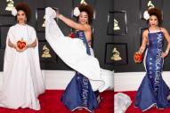 """TRUMP"" Grammy Dress Wearer May Land Top 10 Debut"