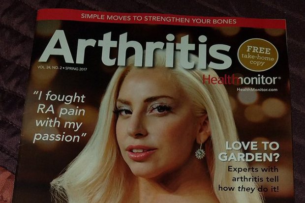 Lady Gaga Is On The Cover Of Arthritis Magazine