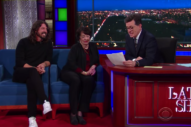 Watch Dave Grohl And His Mom Virginia Talk About Raising A Musician On <em>Colbert</em>