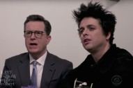 "Watch Billie Joe Armstrong & Stephen Colbert Sing An ""Affordable"" Version Of ""Good Riddance"""