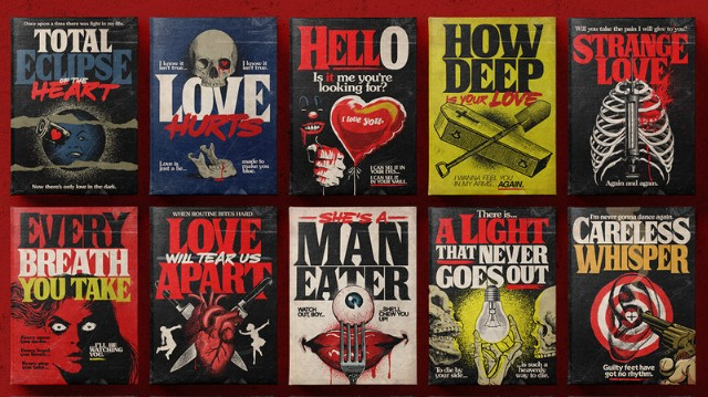 This Artist Turns Classic Love Songs Into Clever Horror Paperback Covers