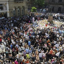 Manchester Vigil Breaks Out Into Oasis Song