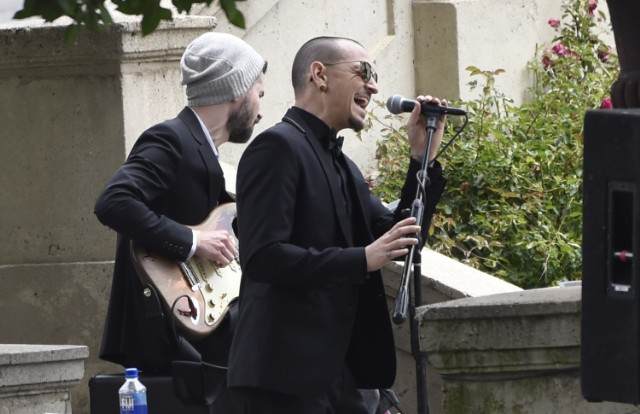 Image result for chris cornell chester bennington funeral