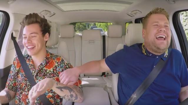 Watch Harry Styles James Corden Sing Outkast On Carpool Karaoke