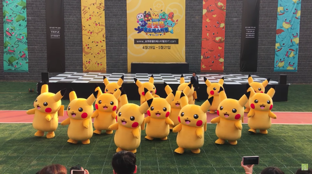 Dancing Pikachu Violently Dragged Offstage :(
