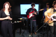 "Watch TOPS Debut ""Cloudy Skies"" & ""Marigold & Gray"" In A Live Stereogum Session"