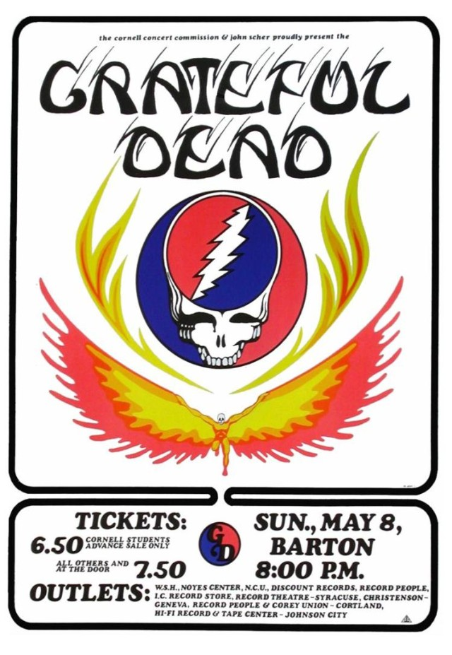 The Grateful Dead 5/8/77 Poster