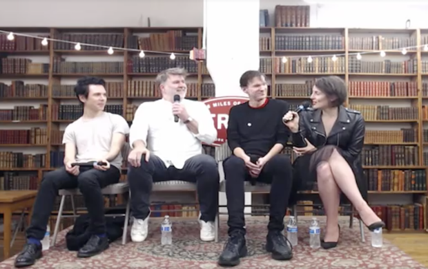 Watch james murphy and nick zinner discuss 00s nyc rock oral history meet me in the bathroom for Lizzy goodman meet me in the bathroom