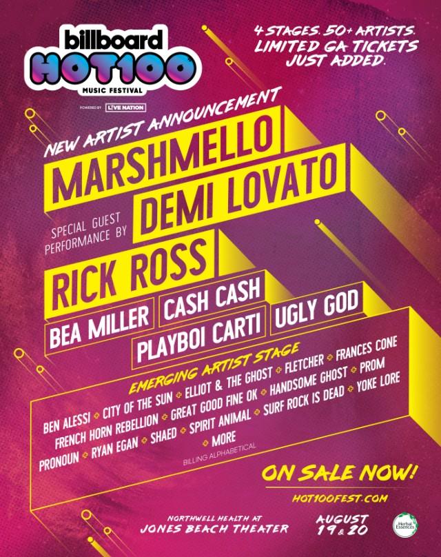 Rick Ross, Marshmello, & More Join Hot 100 Music Festival