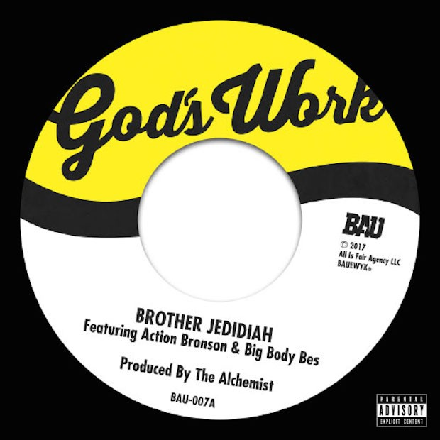 "action bronson big body bes ""brother jedidiah"" prod the  back in 2014 the alchemist teamed up british producer budgie to record the good book a religious themed album built around gospel samples"