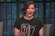 Watch Lizzy Goodman Talk About Her Great Rock-Revival Book <em>Meet Me In The Bathroom</em> On <em>Seth Meyers</em>