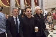 Bono Meets With Paul Ryan, Signs Get-Well Card For Wounded Congressman