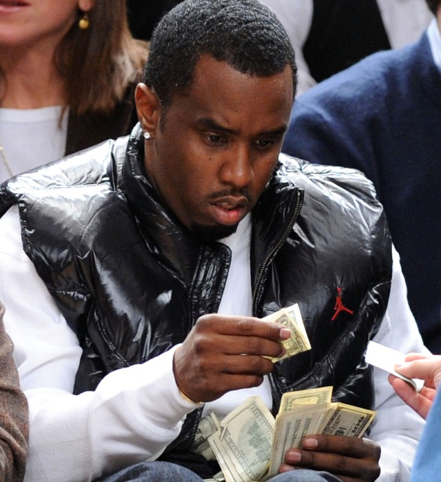 Diddy disgusted at money