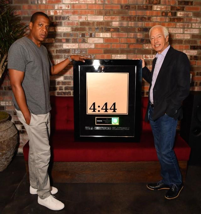 Jay-Z platinum award