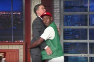 Watch Tyler, The Creator&#8217;s Ridiculous Butt-Grabbing, Boxer-Plugging, <em>Soul Train</em>-Dancing <em>Colbert</em> Appearance