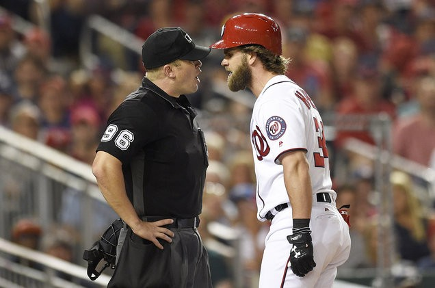 Bryce Harper throws bat in meltdown after getting ejected