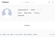 Taylor Swift's Social Media Profiles Are Now Just A Blank Space