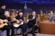 Jimmy Fallon Is Going To Make U2 Sing About Pizza, Isn't He