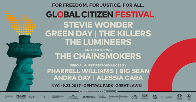 Livestream Global Citizens Festival 2017