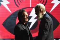Eddie Vedder and David Letterman