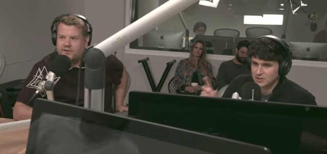 Watch James Corden Join Ezra Koenig On Zane Lowe's Beats 1 Show