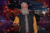 Watch Dave Grohl Guest-Host <i>Kimmel</i> Dressed As Letterman, Including A Foo-Fighters-Backed Alice Cooper Performance