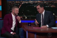 Watch Justin Timberlake Answer Deep Questions With Stephen Colbert
