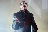 Marilyn Manson, Like An Asshole, Pointed A Fake Assault Rifle At A San Bernardino Audience Last Night
