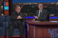 Watch Elton John Talk His Early Career, Sing &#8220;I&#8217;m Still Standing&#8221; On <em>Colbert</em>